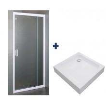 Душевая дверь и поддон EGER 599-111+599-005-80