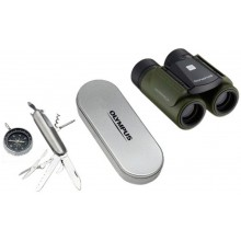 Бинокль Olympus RC II WP 8x21 Olive Green Penknife and Compass