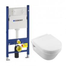 Комплект инсталляция и униаз с сиденьем Geberit DUOFIX 5684HR01+458.126
