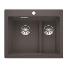 Кухонная мойка Blanco Pleon 6 Split SILGRANIT dark rock 521690
