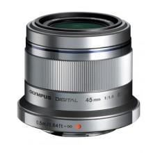 Объектив Olympus ET-M4518 45mm 1:18 Silver