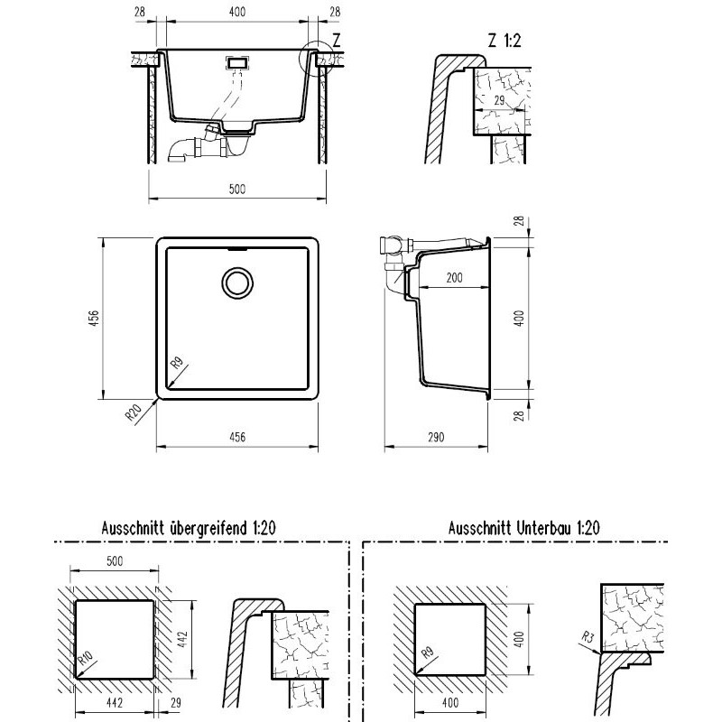 teka radea 400 400 tg40143809. Black Bedroom Furniture Sets. Home Design Ideas