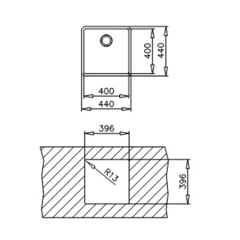 teka be linea r15 10125124. Black Bedroom Furniture Sets. Home Design Ideas
