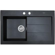 Кухонная мойка Perfelli SOLO PGS 1181-80 BLACK METALLIC