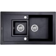 Кухонная мойка Perfelli PIERRA PGP 5361-78 BLACK METALLIC
