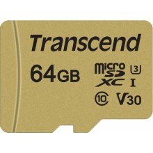 Transcend microSDXC 500S  64ГБ