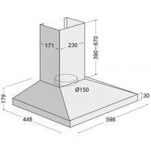 Вытяжка Concept OPK-3360 нержавеющая сталь