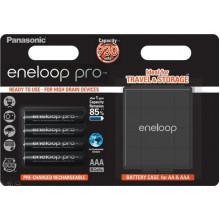 Panasonic Eneloop Pro  4xAAA 930 mAh + case