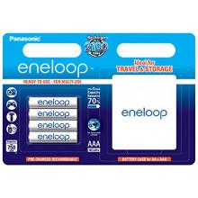 Panasonic Eneloop  4xAAA 750 mAh + case