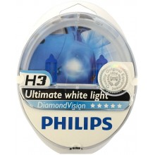 Автолампа Philips DiamondVision H3 2pcs