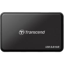 Картридер/USB-хаб Transcend TS-HUB3K
